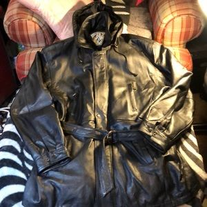 Wilda black leather jacket